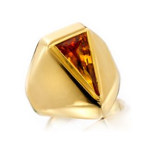 A Citrine and Gold Ring by Suzanne Belperron, circa 1940
